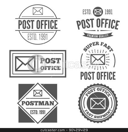 Set of vintage logo, badge, emblem or logotype elements for post