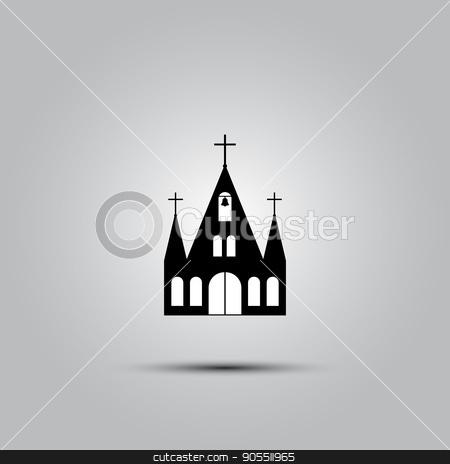 Church vector icon stock vector