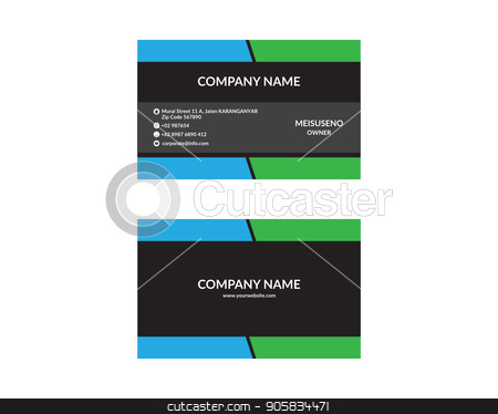 corporate business card stock vector