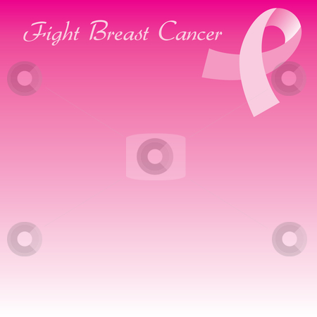 Pink Cancer Ribbon Seamless Background stock vector