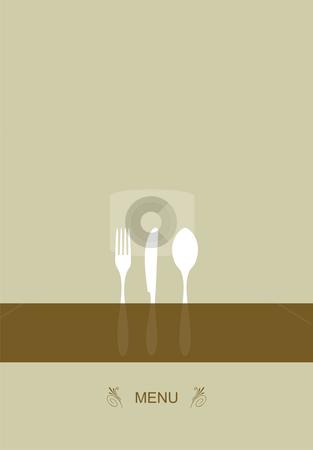 Menu design for restaurant stock vector