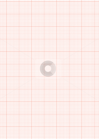 Graph paper a4 sheet red stock vector - graph sheet download