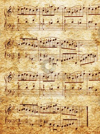 Music-paper stock photo