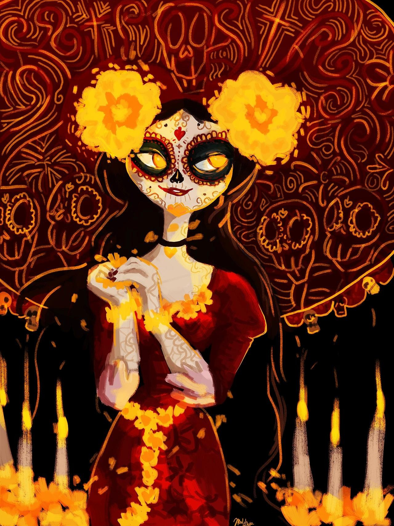 El Libro De La Vida Catrina Screened Out The Book Of Life Watermark Online