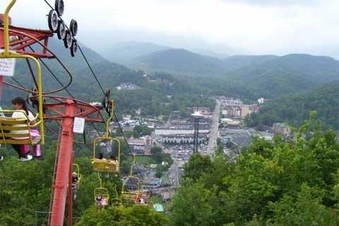 A View of Gatlinburg Tennessee from the Gatlinburg Ski Lift
