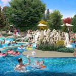 Artist render of the Swimming Hole at Dollywood DreamMore Resort