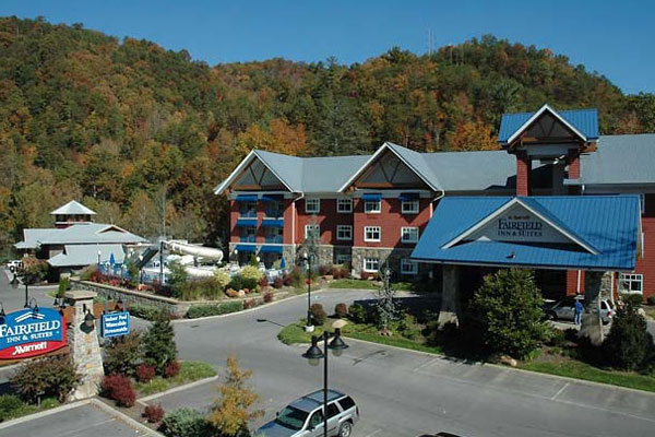 Entrance to the Fairfield Inn and Suites Gatlinburg