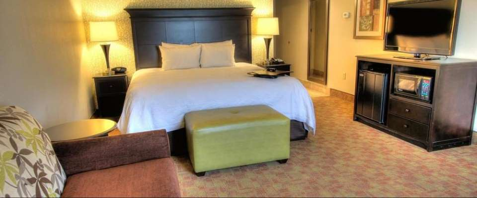 View of a Standard King Room from the Sleeper Sofa at the Hampton Inn Pigeon Forge on Teaster Lane 960