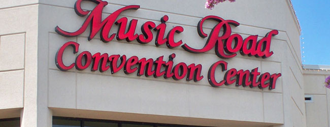 View of the Music Road Convention Center Entrance wide