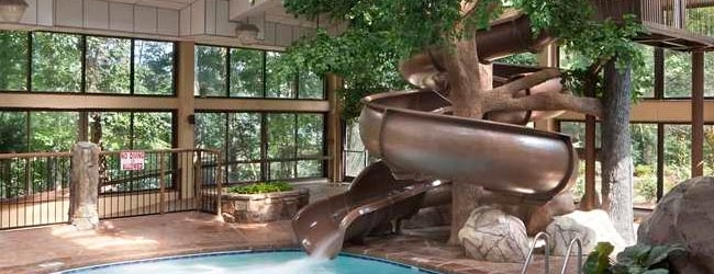 Park Vista in Gatlinburg Twisting Water Slide wide