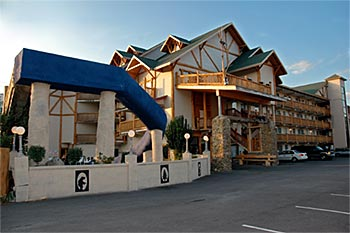 View of the Outside Front of the Riverchase Motel in Pigeon Forge