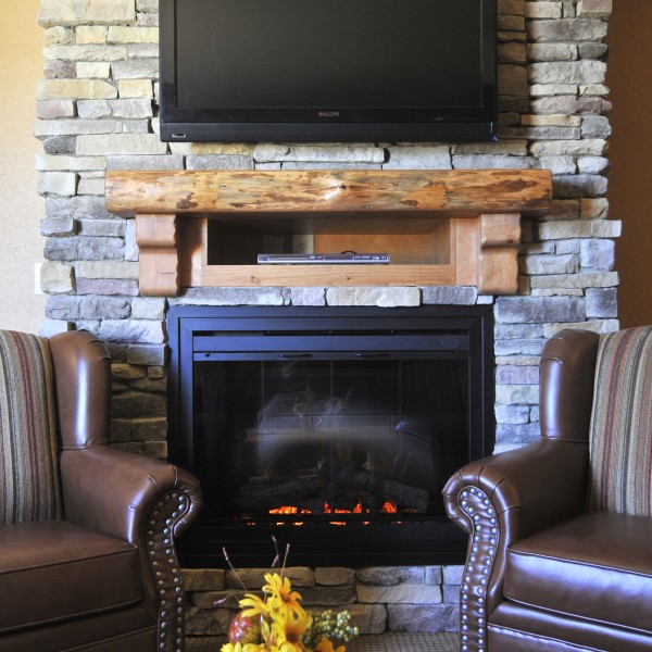View of Fireplace Suite at River Lodge Wilderness at the Smokies