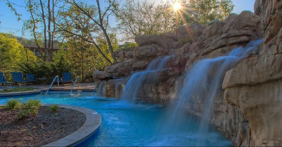 Lazy River with waterfall at the Riverstone Resort and Spa 960