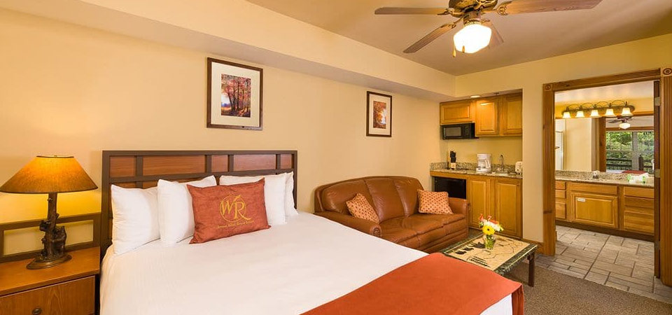 View of a Studio Villa with Kitchenette at the Westgate Smoky Mountain Resort 960