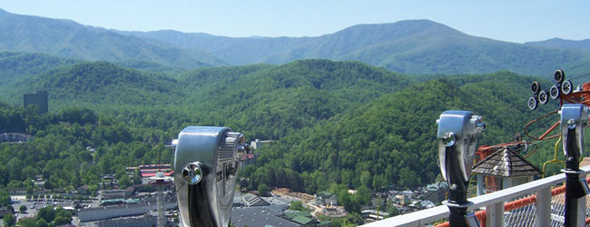 View from the top of the Gatlinburg Sky Lift wide