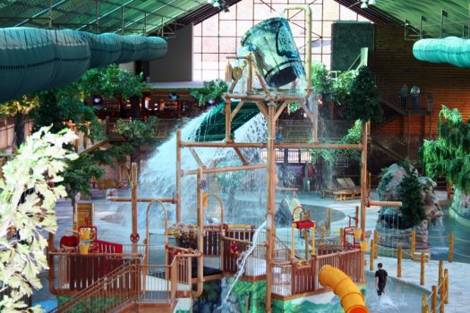 View of the Indoor Waterpark at Westgate Smoky Mountain Resort