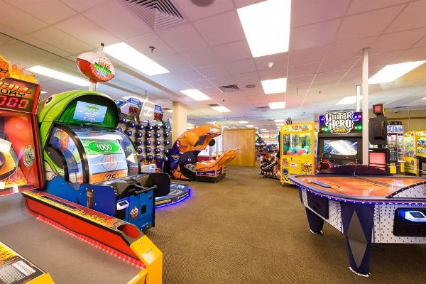 Arcade with games at Westgate Smoky Mountain Resort
