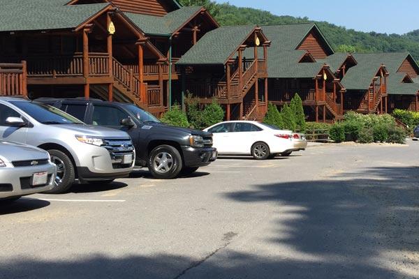 Parking lot at Westgate Smoky Mountain Resort