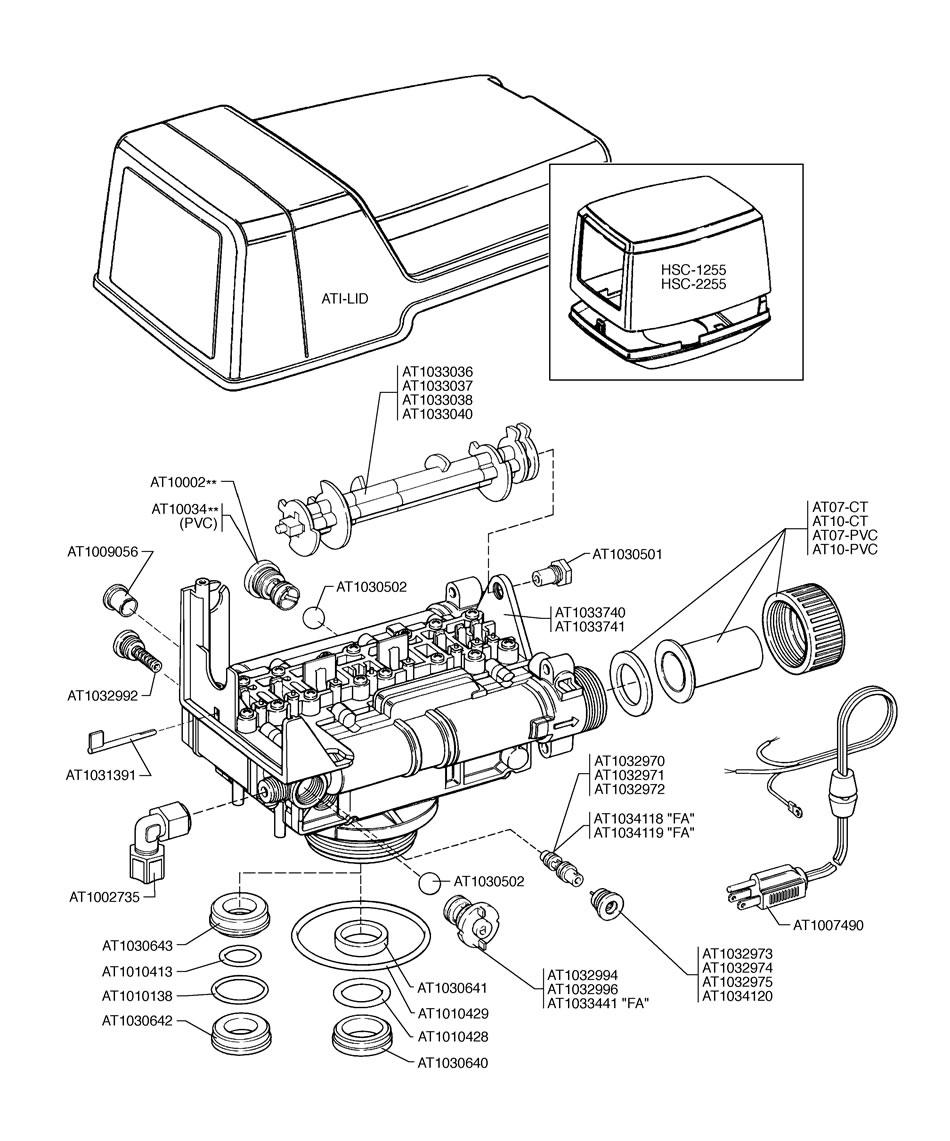 autotrol 168 control valve assembly
