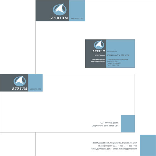 Business Cards, Letterhead  Envelopes