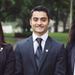 2016-16 JU Presidential Fellows (from left) Stephania Landaeta, Ryan Wagner and Kimberly Trumbull.