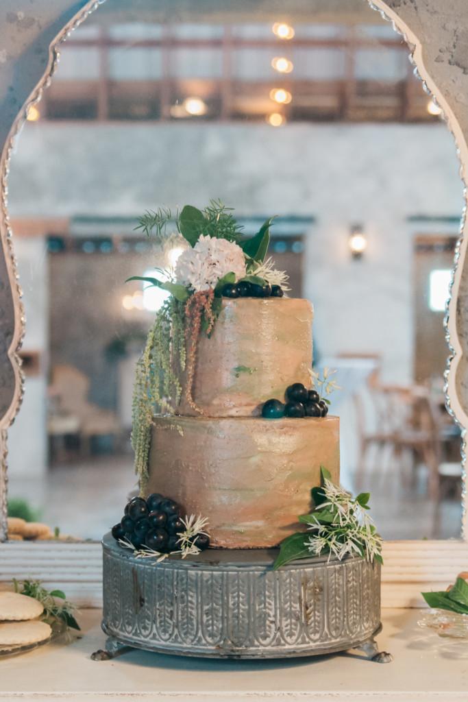 Overlook Barn NC Wedding Venue - Coffee Wedding Cake