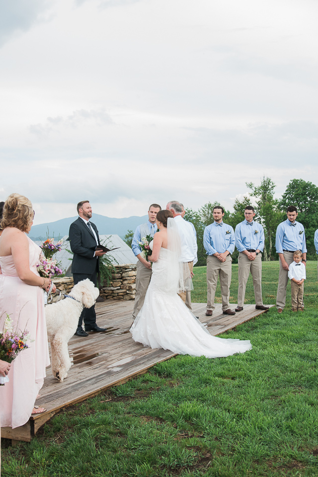 Overlook Barn Banner Elk, NC Wedding Ceremony
