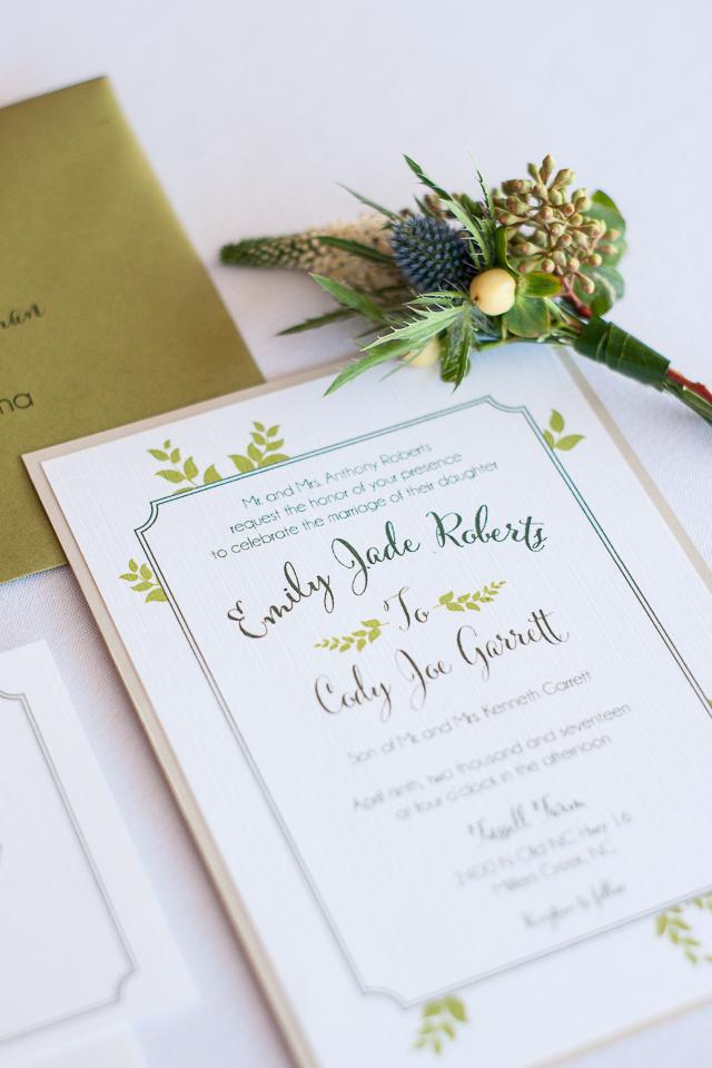 Greenery Wedding Invitation ideas