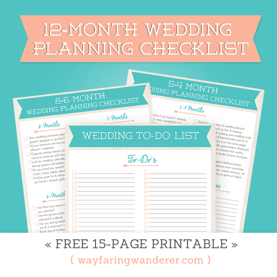 Wedding planning checklist free printable for What to know about planning a wedding