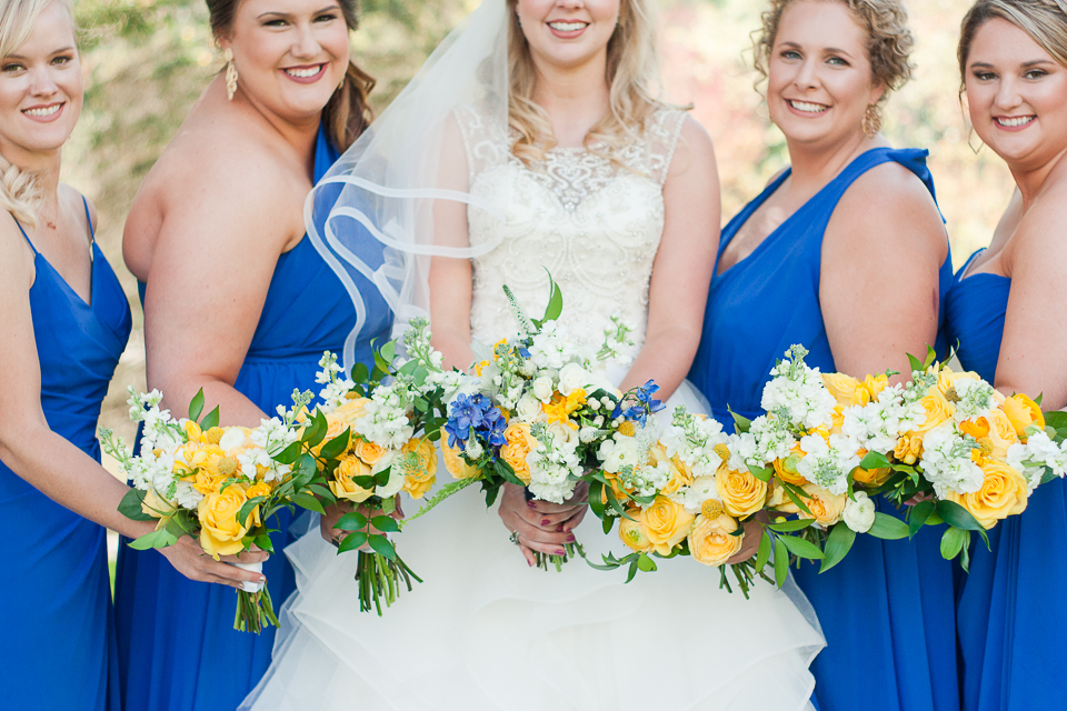 Yellow & Blue Bouquets