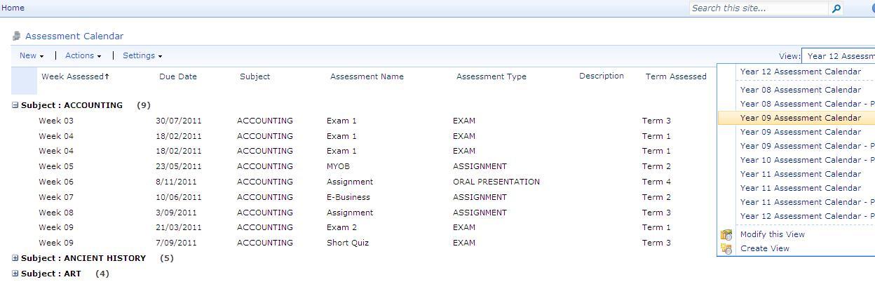 Managing a School Assessment Calendar in SharePoint Wayne Hellmuth - assessment calendar template