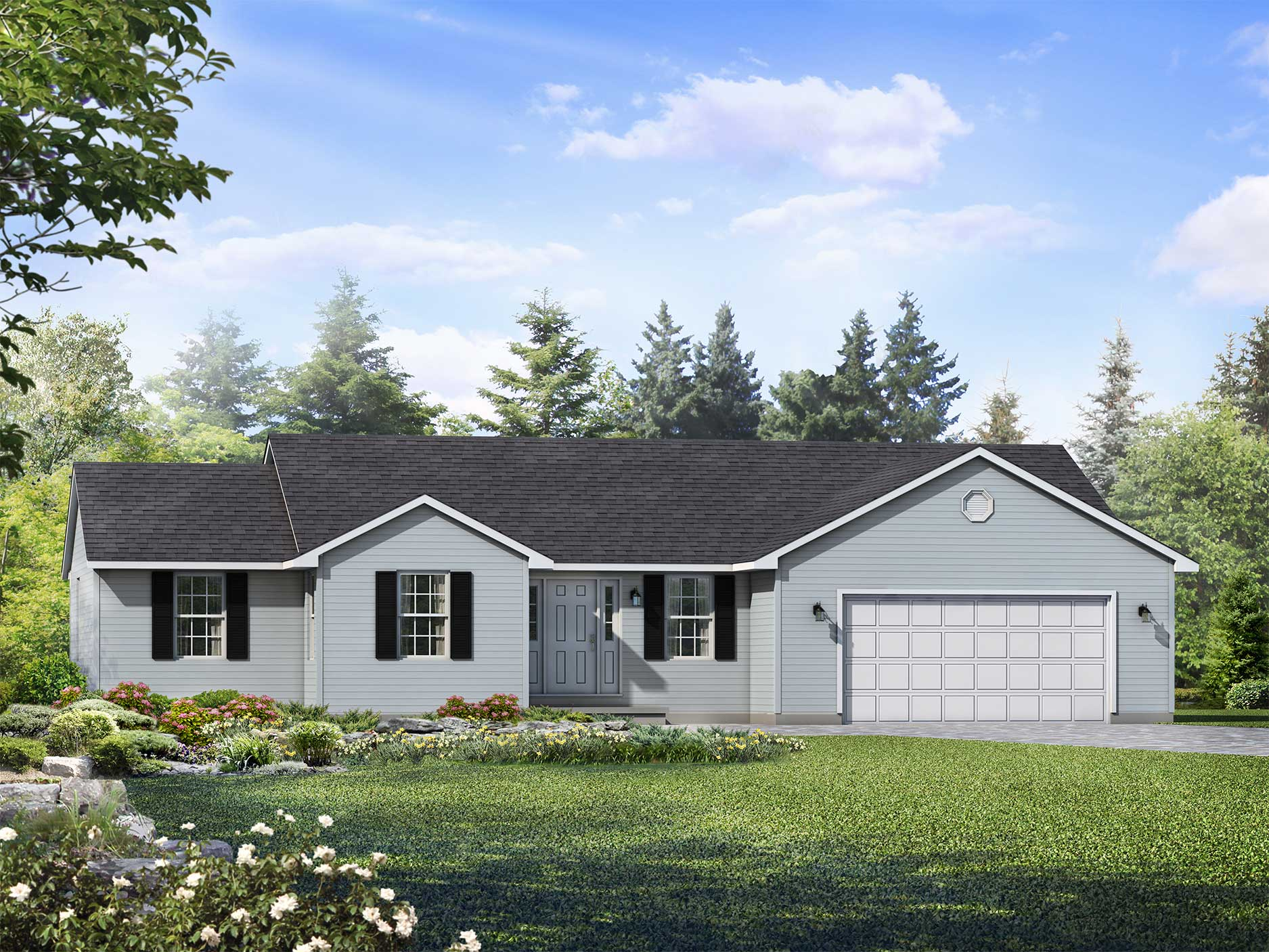 Richmond Signature Homes Farmhouse Plans Richmond Ii Floor Plan Ranch Custom Home Wayne Homes