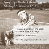 Forgotten Goals & Resolutions 30-day Challenge 2015