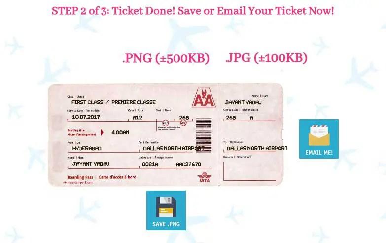 Fake airline ticket maker gildthelilyco – Ticket Maker