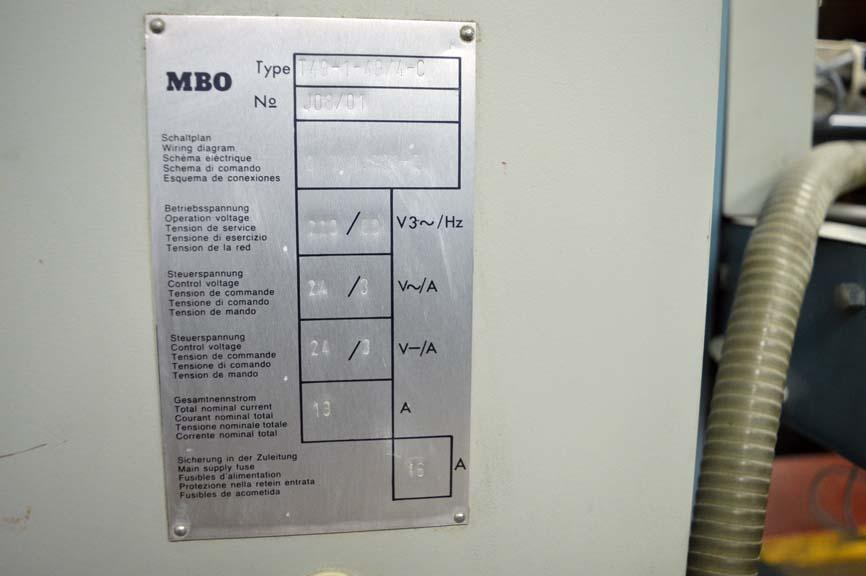 Lot #29 1994 MBO T-49C Continuous Feed Paper Folder with 8pg Unit