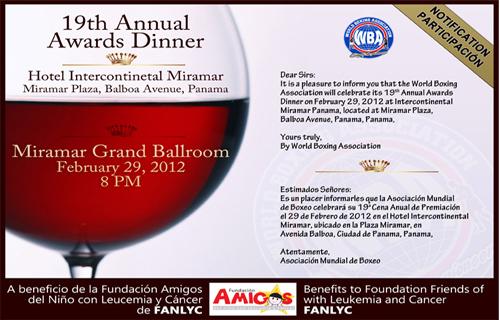 WBA 19th Annual Awards Dinner 2012