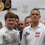 Doble campeonato mundial en Moscu - Pesaje oficial