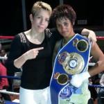 Da Silva captura el titulo femenino Internacional super gallo