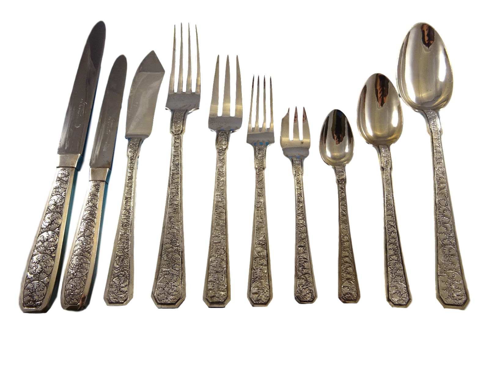 Japanese Flatware Set Chinese Japanese Sterling Silver Flatware Set Service