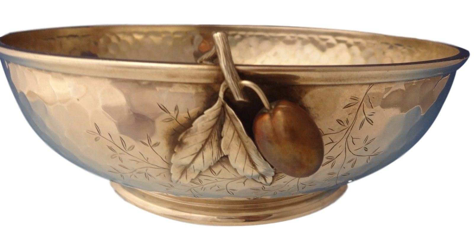 Metal Fruit Bowl Mixed Metals By Whiting Sterling Fruit Bowl With Applied