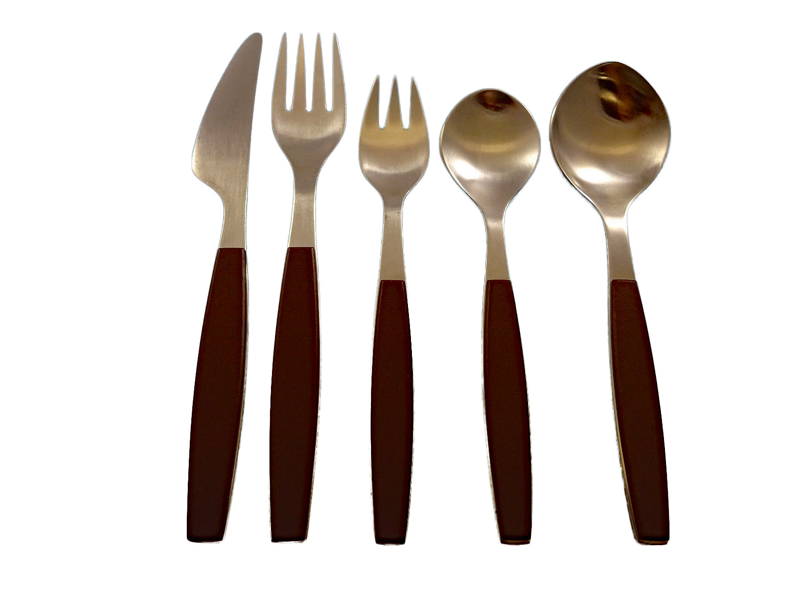 Contemporary Stainless Steel Flatware Strata Brown By Georg Jensen Stainless Steel Flatware Set