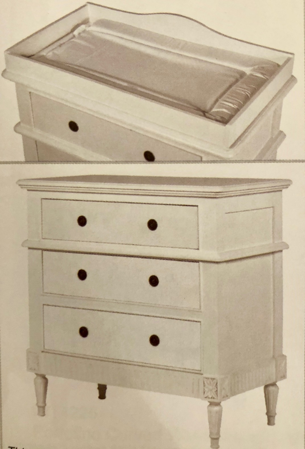 Changing Table Chest Of Drawers White 3 Drawer Chest With Removable Changing Unit Wbr Interiors