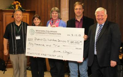 Community Foundation Grants $50,000 to District 51 Nutrition Services
