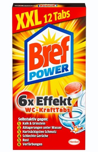 Wc Bürste Wc Bref Power Kraftpaket, Wc Reiniger, 2er Pack (2 X 12