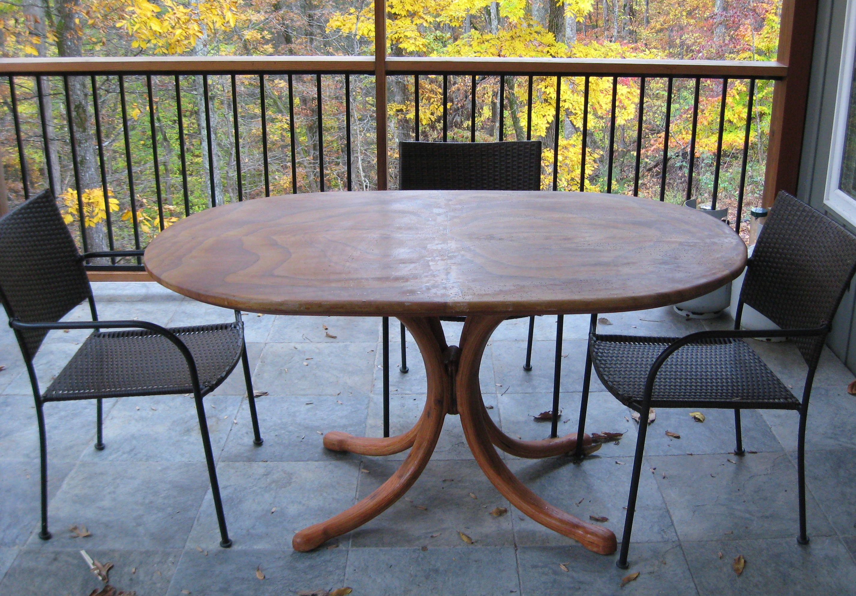 Patio Table Patio Table With Sandstone Top Wilson Cunningham Custom Woodworking