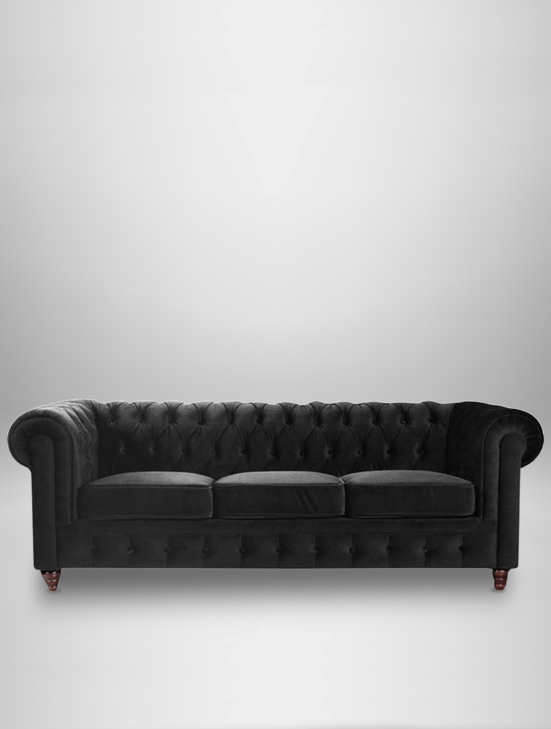Chesterfield Sofas Lincoln Black Velvet Chesterfield Sofa Black Chesterfield Sofas