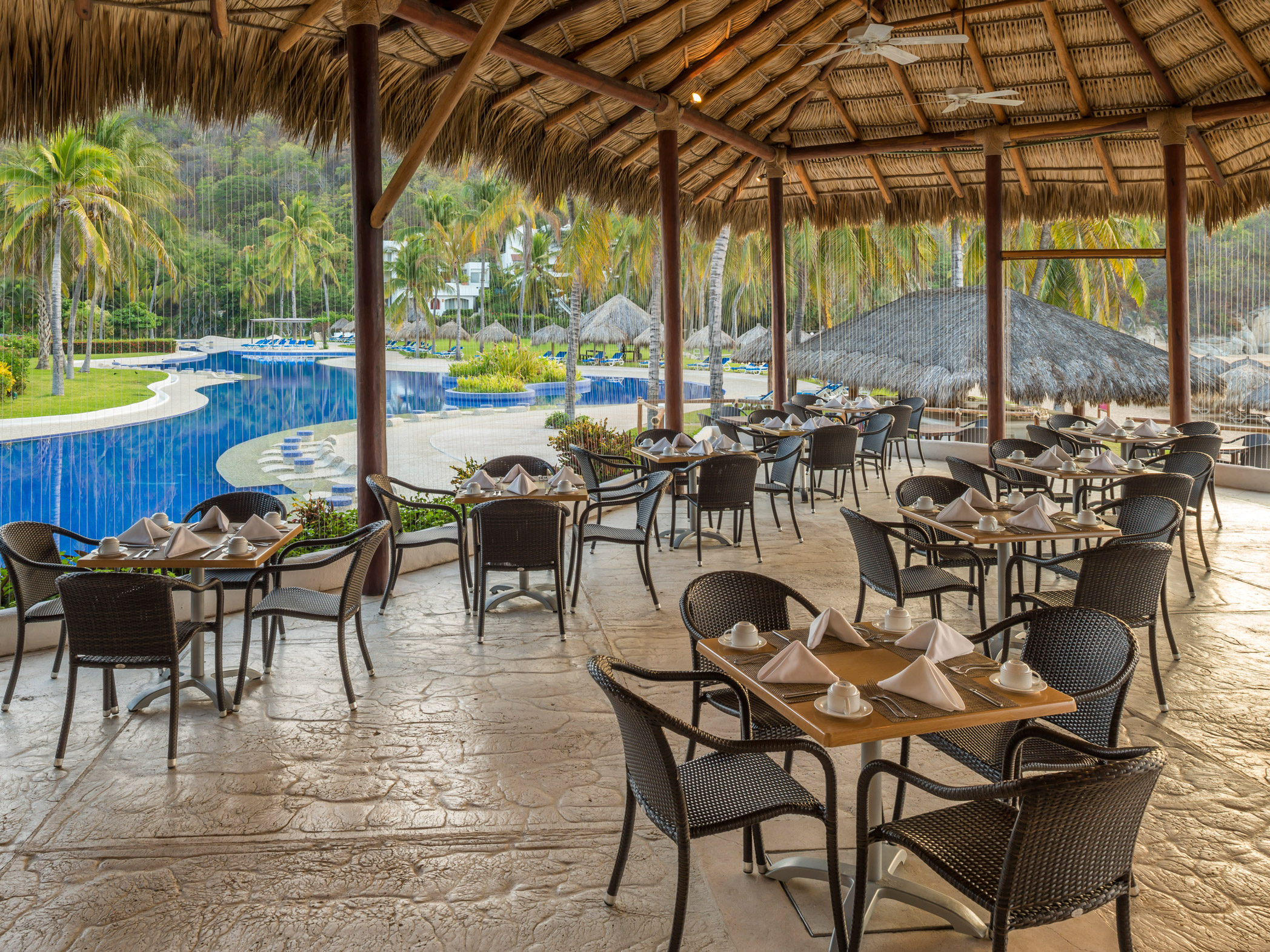 Camino Real Zaashila Hotel Map Restaurants And Bars Camino Real Zaashila Huatulco Transat