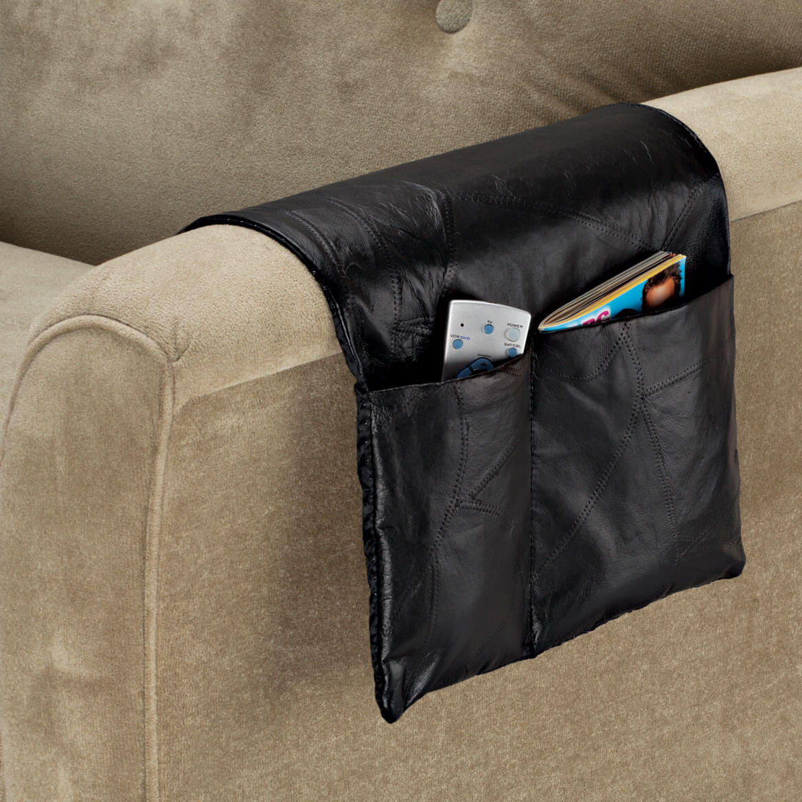 Sofa Arm Organizer Tray Leather Armchair Caddy