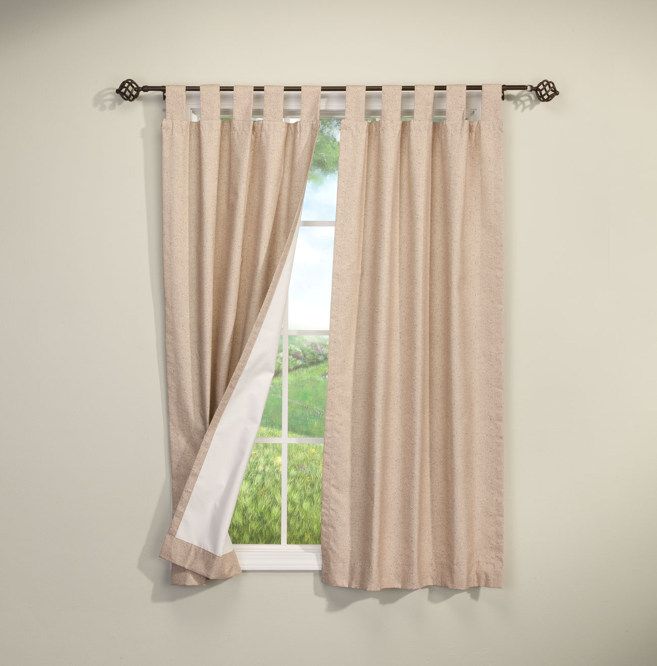 Tab Top Curtain Details About Energy Saving Tab Top Curtains Set Of 2