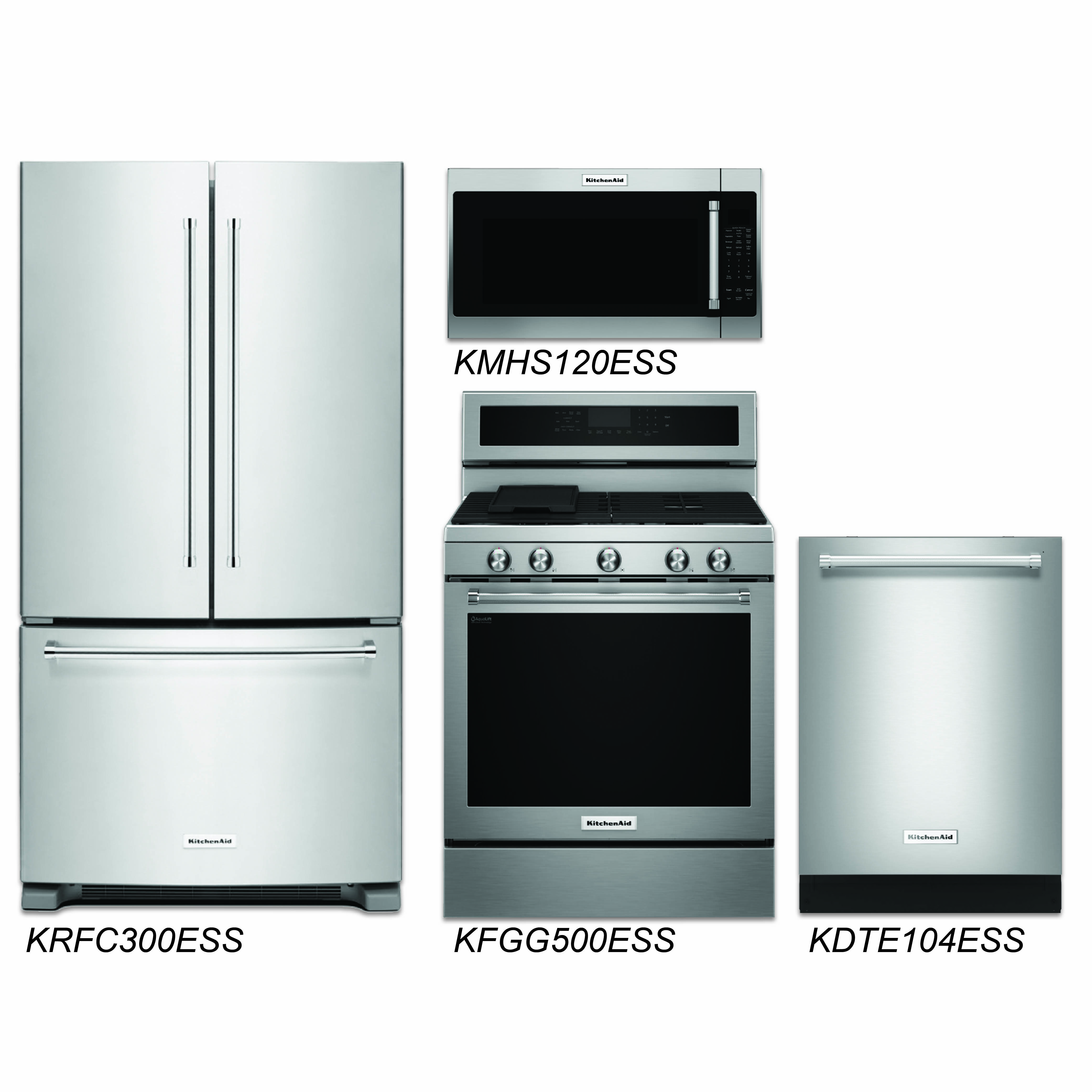 Kitchen Packages Discount Package Kitchenaid 4 Piece Stainless Steel